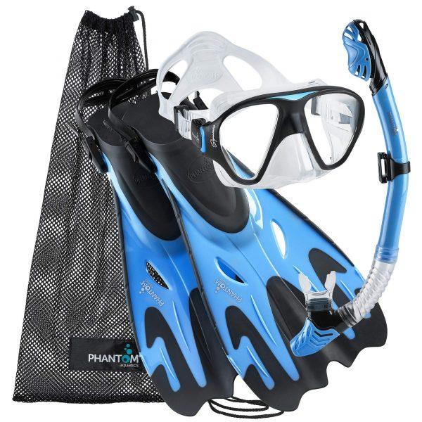 Phantom Aquatics Italian Collection Mask Fin Dry Snorkel Set