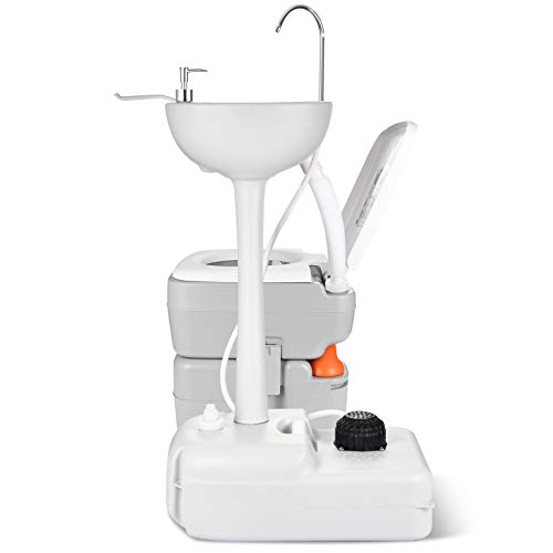 Camping, RV, Boat Portable Sink and Toilet 17 L