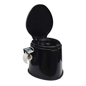 Composting Portable Camping Toilet with Removable Cellphone & Toilet Paper Holder