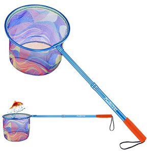 Landing Net with Carbon Fiber Telescopic Pole Handle and Ultralight