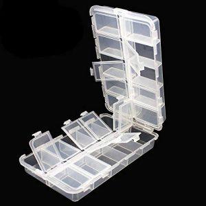 Plastic Box Storage Organizer Box with Adjustable Dividers