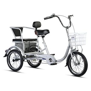 Three-Wheeled Bicycles with Shopping Basket