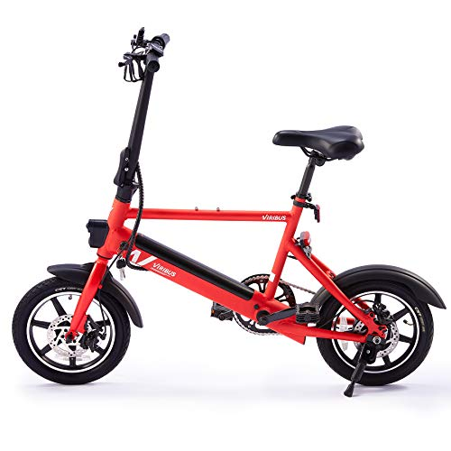 Electric Bike with Folding Pedals and Handlebar