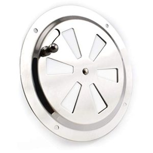 Boat Cabin Ventilation Plate Round Louver Vent Cover Butterfly