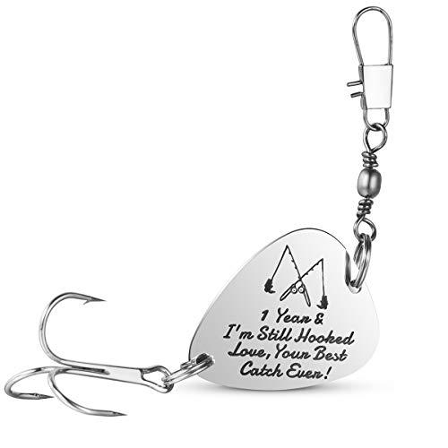 1st Wedding Anniversary Gifts Fishing Lure Fisherman