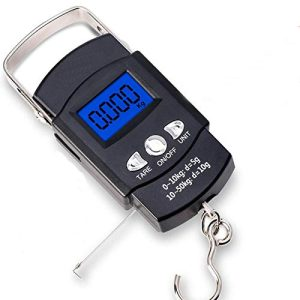 ortable Luggage Weight Scale with Measuring Tape 110lb/50kg
