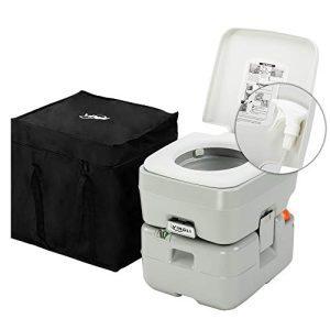 5.5 Gallon Portable Camping Toilet Anti-Leak Water Pump
