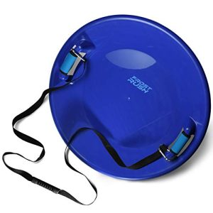 Rush Arctic Saucer Sled with Foam Grips and Uphill Pull Cord Straps