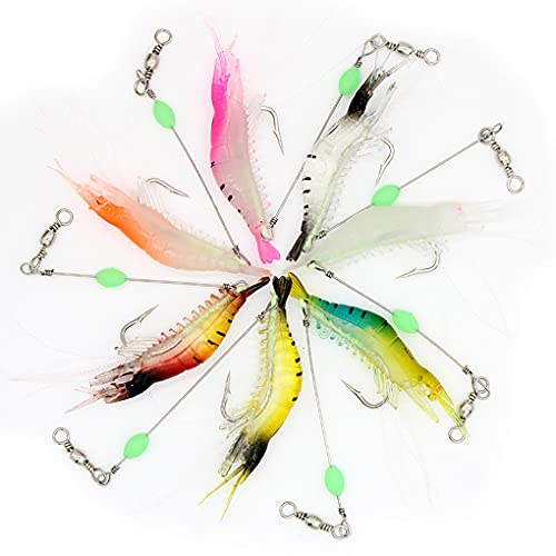 Fishing Lures for Bass with T-Shape Tail