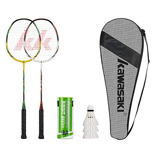 2 Player Badminton Racquets Set Double Rackets