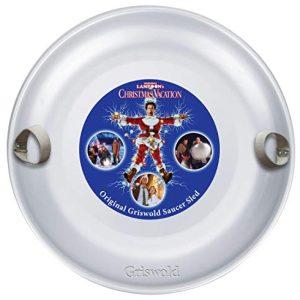 Christmas Vacation Saucer Snow Sled Aluminum Alloy Disc