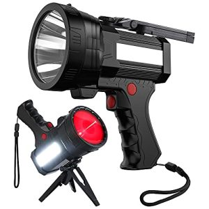 Rechargeable Spotlight LED Flashlight with Red Lens