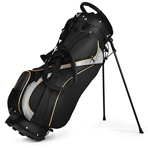 Portable Golf Stand Bag with 8 Way Divider