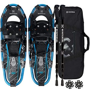Lightweight Shasta Snowshoes Snow Shoes with Carry Bag and Adjustable Poles