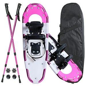 Lightweight Pink Snowshoes for Men Women Girls Boys