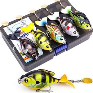 Fishing Lure Set Bass with Topwater Floating