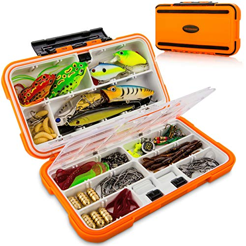 Fishing Lures Baits Tackle Box and Lure Kit Piece Saltwater