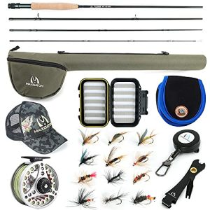 Starter Rod and Reel Outfit Extreme Fishing Combo Kit
