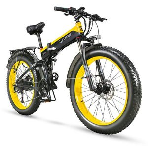 Electric Mountain Bike 1000w Folding for Adults Full Suspension with Mudguard