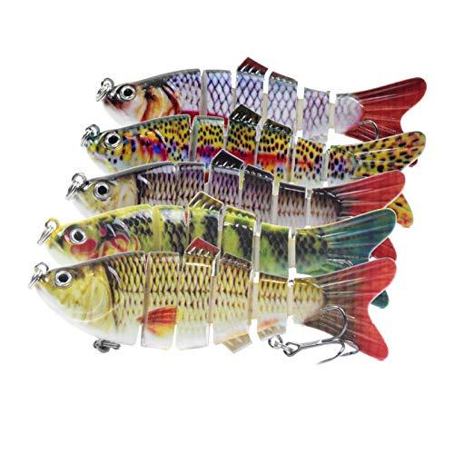 Fishing Lure Freshwater Saltwater Lure Baits Kit Bass with Loud Fake Bait