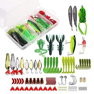 Fishing Lures Kit Set for Bass, Trout, Salmon