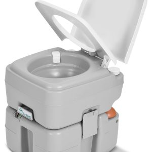 Travel RV Toilet with Level Indicator