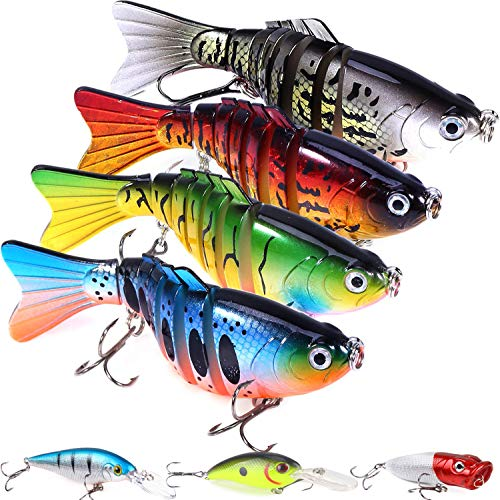 Fishing Lures Bass Lures Set with a Tackle Box