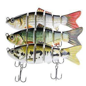 Life-Like Bass Swimbaits Multi-Jointed Fishing Lures