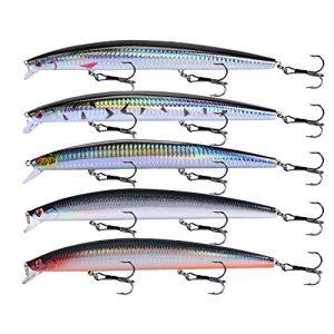 Large Fishing Lures Hard Bait Lures with Treble Hook Lifelike 3D Fishing