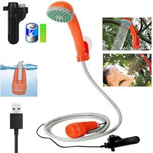 3.7V Portable Camping Shower Pump Outdoor Shower