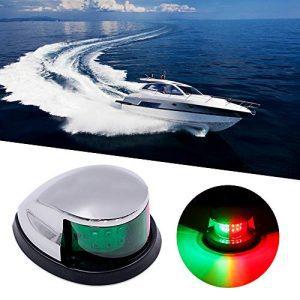 LED Navigation Lights Deck Mount for Bow Side, Port, Starboard