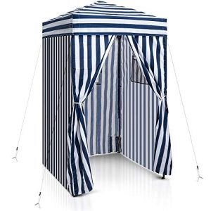Pop-up Changing Room Canopy, Portable Privacy Cabana for Pool