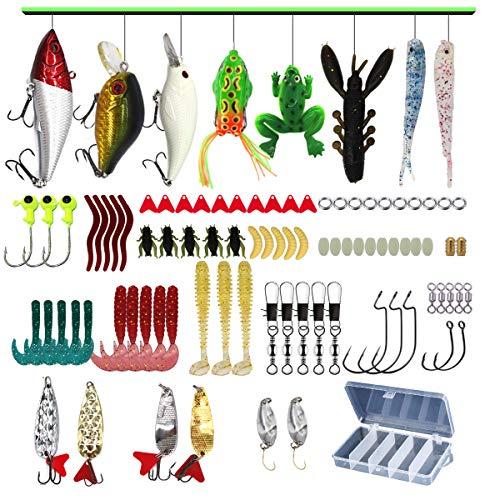 Bass, Trout, Salmon Fishing Lures Kit Set