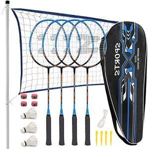 Lightweight Carbon Fiber Badminton Rackets Set