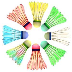 LED Badminton Shuttlecocks for Badminton, Glow in The Dark Shuttlecocks