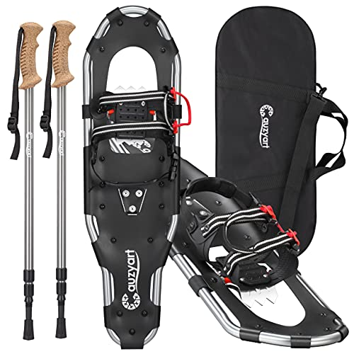 Terrain Snow Shoes with Anti-Shock Trekking Poles and Carrying Tote Bag