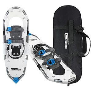 Lightweight Snowshoes with Fully Adjustable Ratchet Bindings