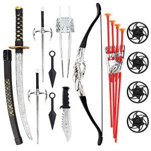 Liberty Imports Ninja Warrior Bow and Arrow Archery Set