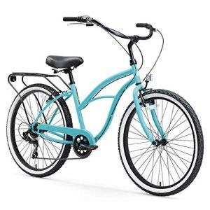 7-Speed Beach Cruiser Bicycle Around The Block
