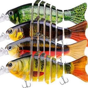 Fishing Lure Set Bass with Artificial Hard Bait