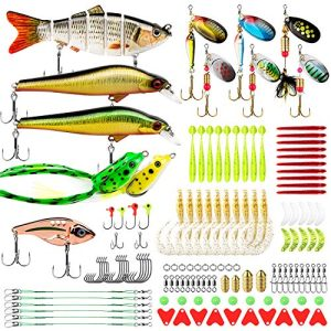 Bass Trout Fishing Lures Kit Set Lures Frog and More Fishing Gear