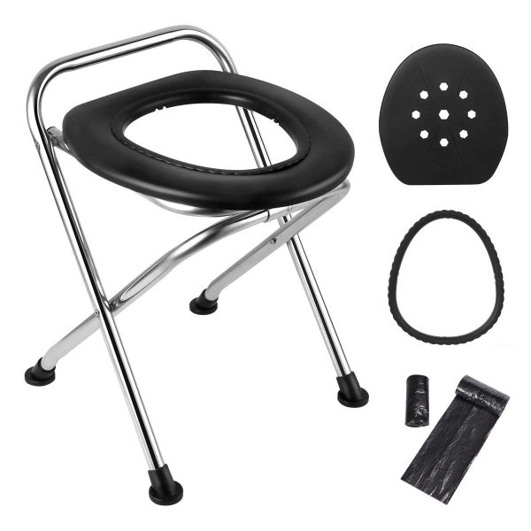 Camping, Fishing, Off-Road Driving Portable Toilet Seat Folding