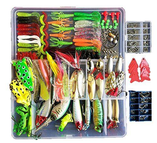 275pcs Freshwater Fishing Lures Kit Fishing Tackle Box
