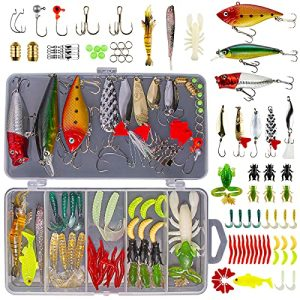 Freshwater Bait Tackle Kit for Bass Trout Salmon Fishing