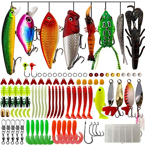 Fishing Lures Kit Set for Crappie Including Crank Popper