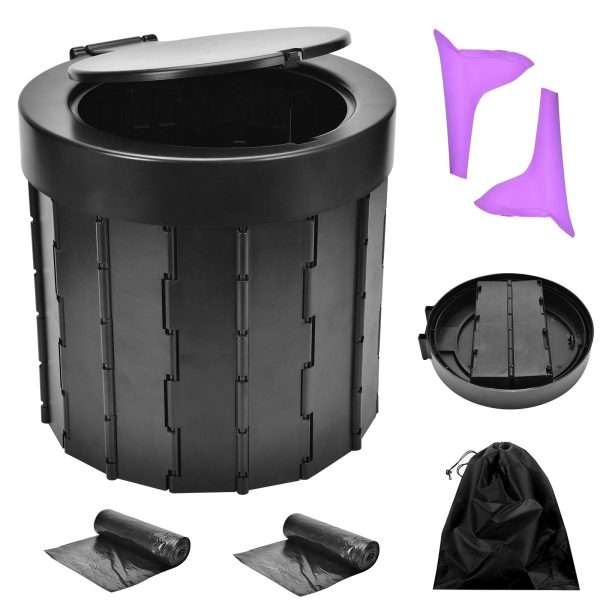 Portable Folding Camping Toilet for Hiking, Long Trips, Beach