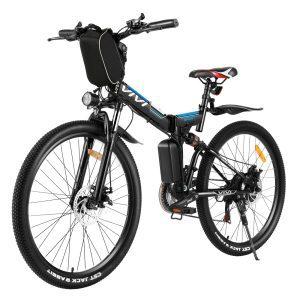 Folding Electric Mountain Bicycle Adults 26 inch E-Bike